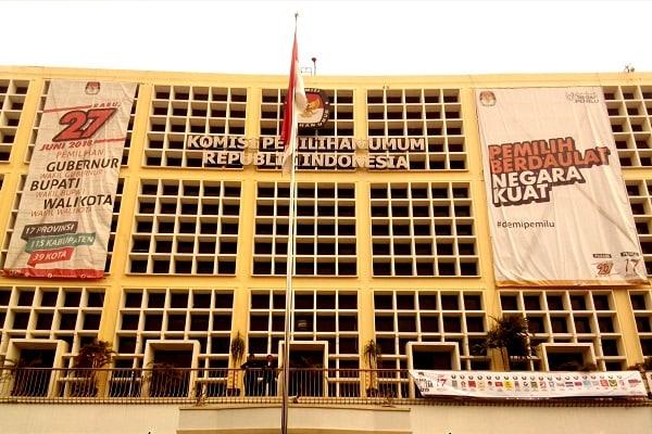 Gedung Komisi Pemilihan Umum Republik Indonesia di Jakarta. - Bisnis.com/Samdysara Saragih