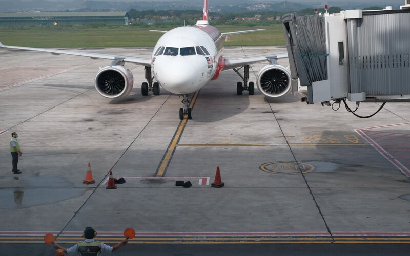 Suasana di Bandara Ahmad Yani Semarang.