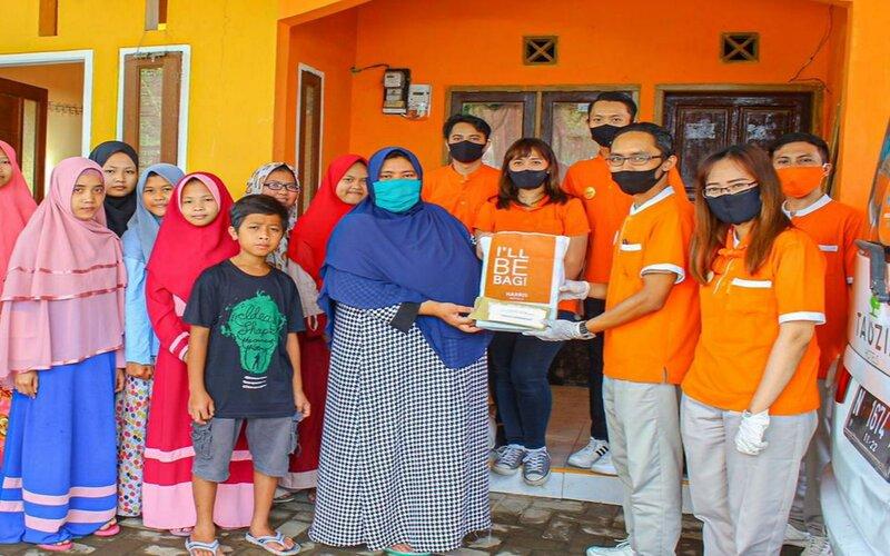 Kegiatan bakti sosial Harris Hotel & Conventions Malang ke Panti Asuhan Ulul Albab. Rabu (20/5/2020). - Istimewa