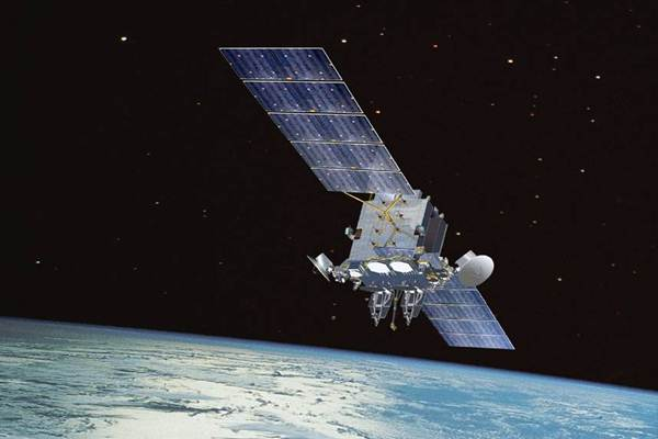 Ilustrasi satelit komunikasi. - Wikimedia Commons