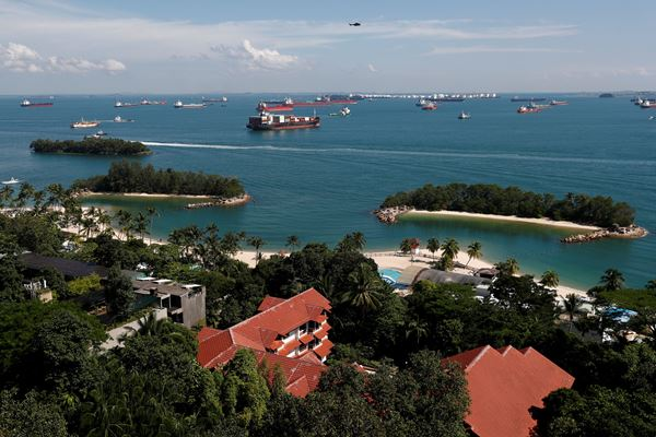 Pulau Sentosa di Singapura menjadi lokasi pertemuan Presiden AS Donald Trump dan Pemimpin Korea Utara Kim Jong-un pada 12 Juni 2018. - Reuters
