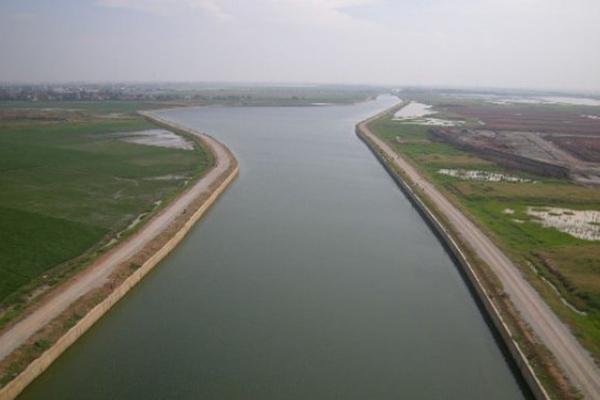 Ilustrasi- Kanal Cikarang-Bekasi Laut (CBL) yang merupakan salah satu proyek strategis nasional. - Bisnis/industry.co.id