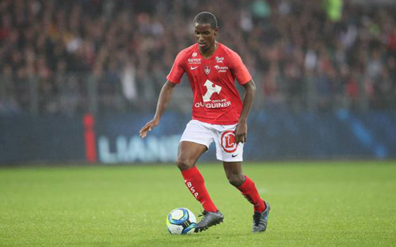 Pemain tengah Brest Ibrahima Diallo - L'Equipe