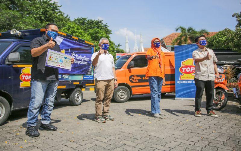 Top 1 Indonesia Salurkan Bantuan untuk Perusahaan Logistik