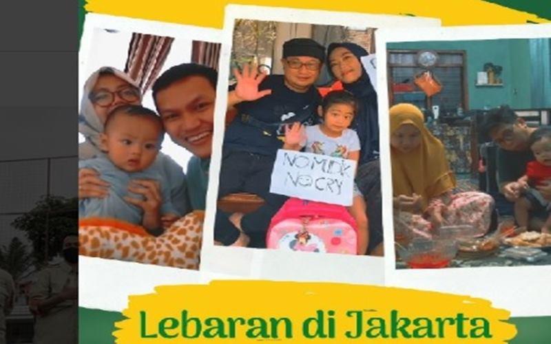 Lebaran dan silaturahmi via virtual di Jakarta. - Instagram@aniesbaswedan