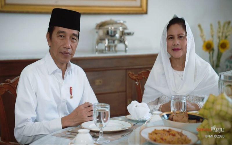 Presiden Joko Widodo dan Ibu Negara Iriana menyampaikan ucapan selamat Hari Raya Idulfitri 1 Syawal 1441 Hijriah yang akan dirayakan pada Minggu (24/5/2020). - istimewa