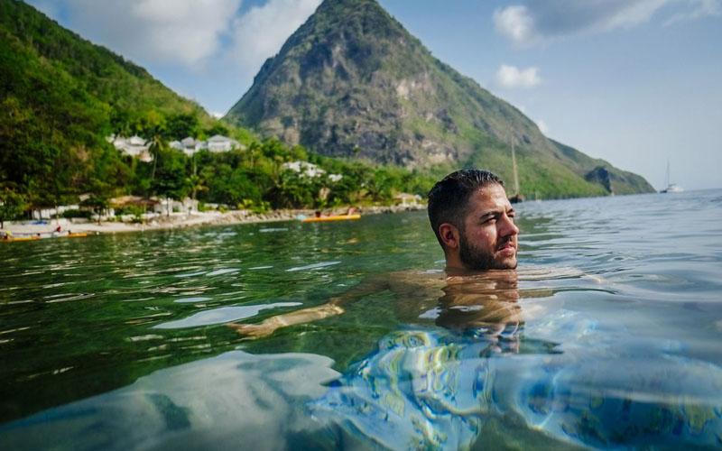 Keelokan pantai Karibia. Negara-negara di wilayah Karibia, yang sebagian besar mengandalkan pariwisata, mulai mencari cara untuk bangkit di tengah keterpurukan akibat pandemi corona. - Bloomberg