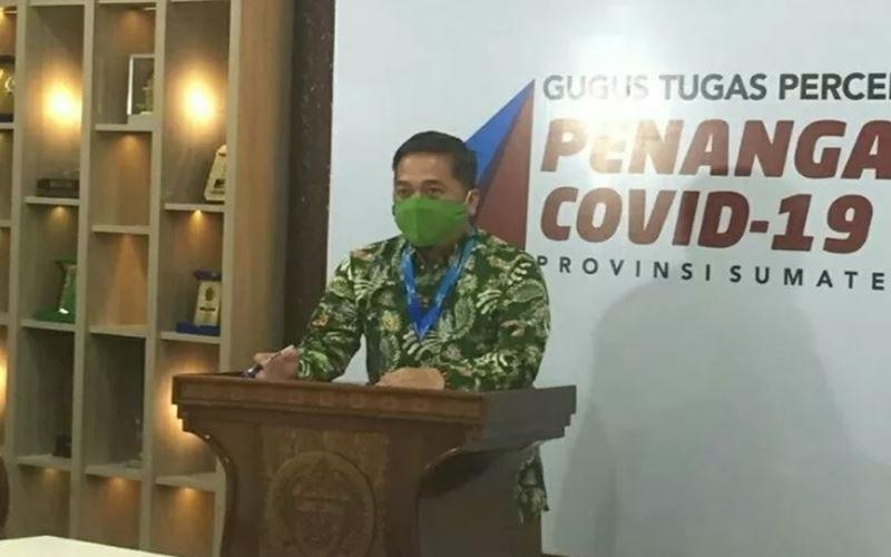 Juru Bicara Gugus Tugas Percepatan Penanganan (GTPP)  Covid-19 Sumut Aris Yudhariansyah, di Medan, Rabu (13/5/2020). - Antara