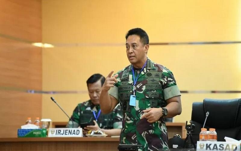 Kepala Staf Angkatan Darat (KSAD) Jenderal TNI Andika Perkasa. - Antara