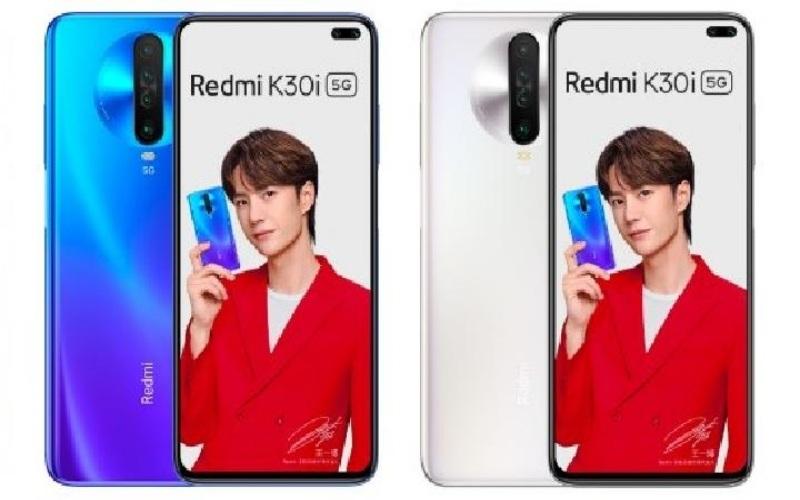 Redmi K30i 5G biru dan putih. Kredit: GSM Arena