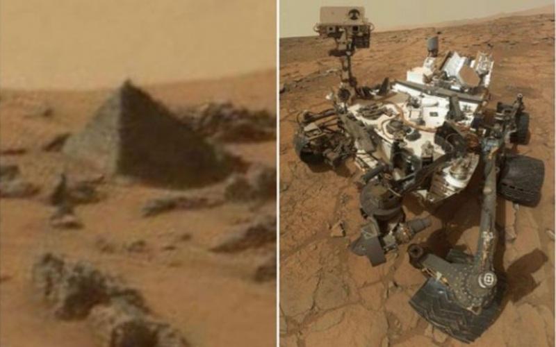 Robot milik NASA mengabadikan gambar piramida di permukaan Planet Mars. -  mirror.co.uk