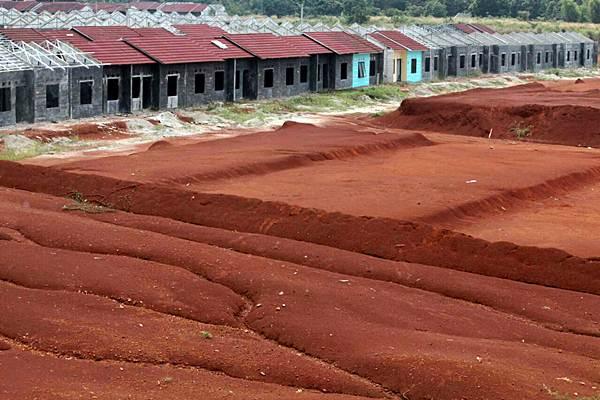 Suasana di proyek perumahan bersubsidi di Bogor, Jawa Barat, Senin (4/9). - JIBI/Nurul Hidayat
