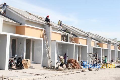 Ilustrasi: Pembangunan perumahan di salah satu lokasi di Tangerang, Banten. - Bisnis