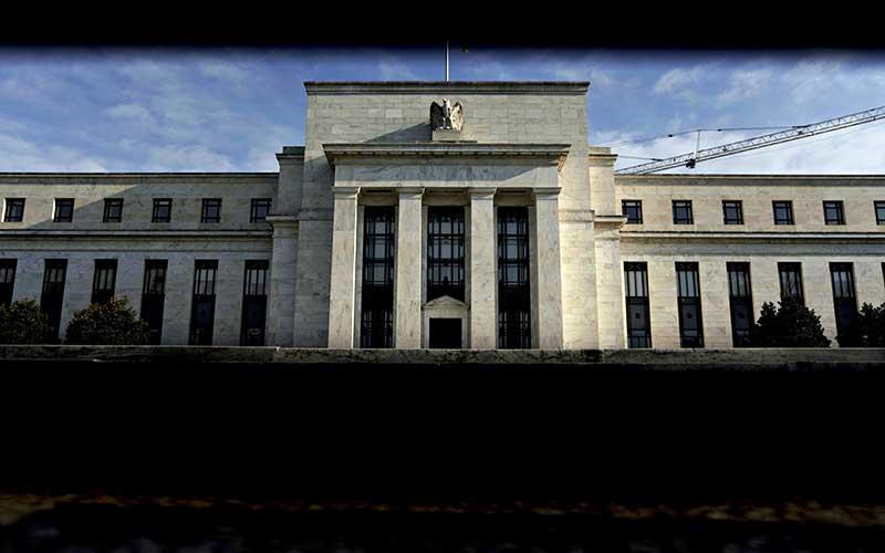 Gedung bank central Amerika Serikat atau The Federal Reserve di Washington, Amerika Serikat, Senin (8/4/2019). Bloomberg - Andrew Harrer