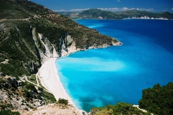 Lokasi pantai di Yunani
