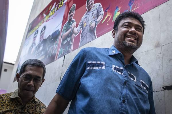 Presiden Konfederasi Serikat Pekerja Indonesia (KSPI) Said Iqbal (kanan). - Antara