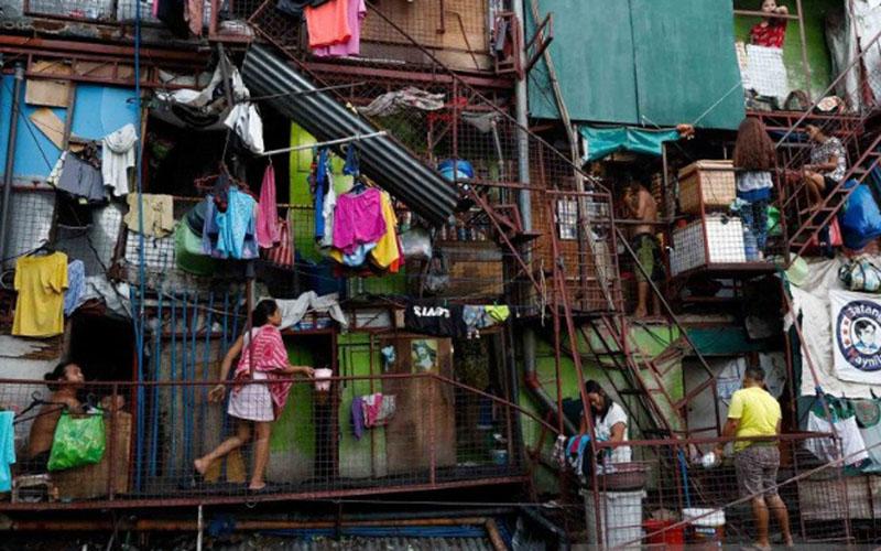 Kawasan kumuh di Tondo, Manila, Filipina./Antara - Reuters