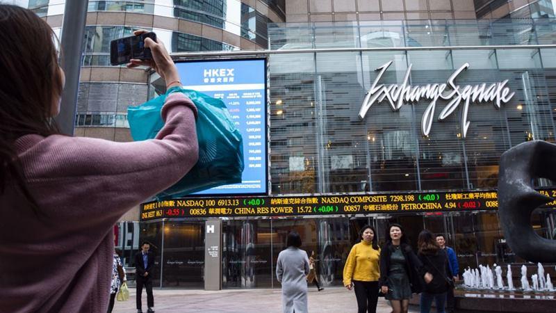 Ilustrasi-Suasana di Exchange Square Hong Kong. - Justin Chin/Bloomberg