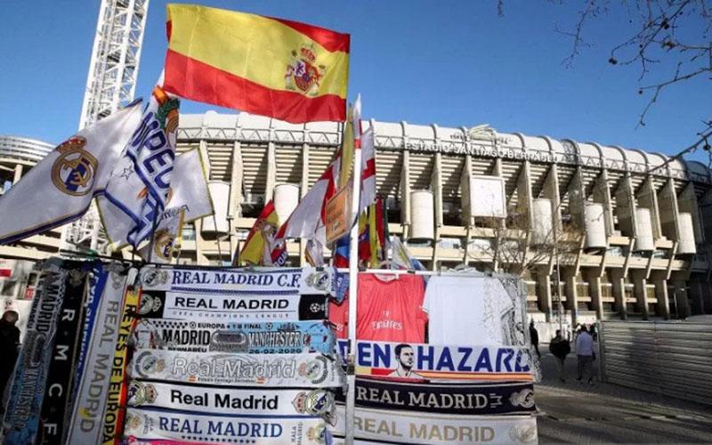 Stadion Santiago Bernabeu, markas Real Madrid. - Antara/Reuters
