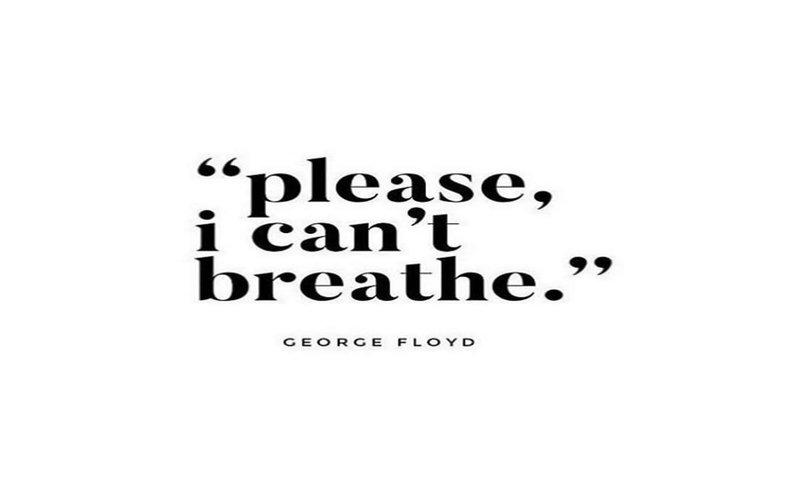 Tulisan yang beredar di Instagram dan Twitter untuk mengenang George Floyd yang tewas akibat penganiayaan polisi di AS -  Instagram