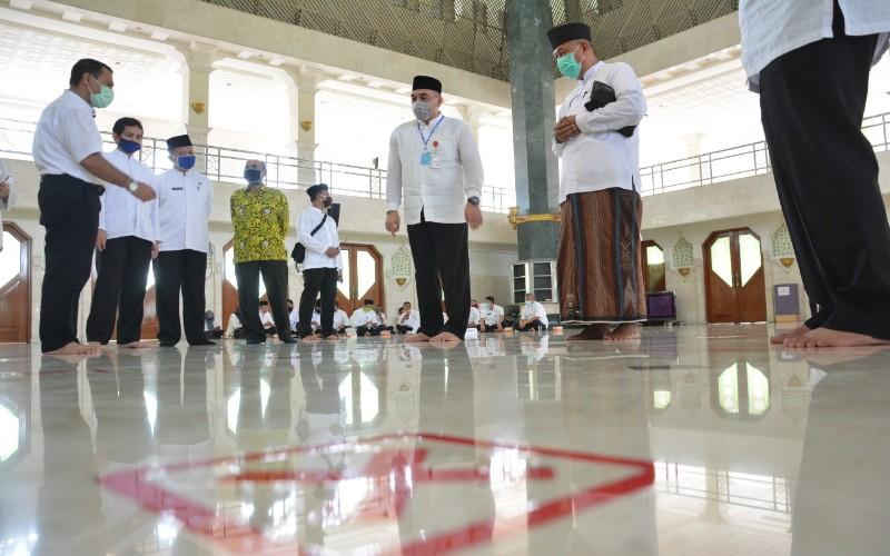 Simulasi pembukaan masjid di Kabupaten Tangeranf