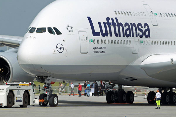 Salah satu pesawat Lufthansa - Istimewa
