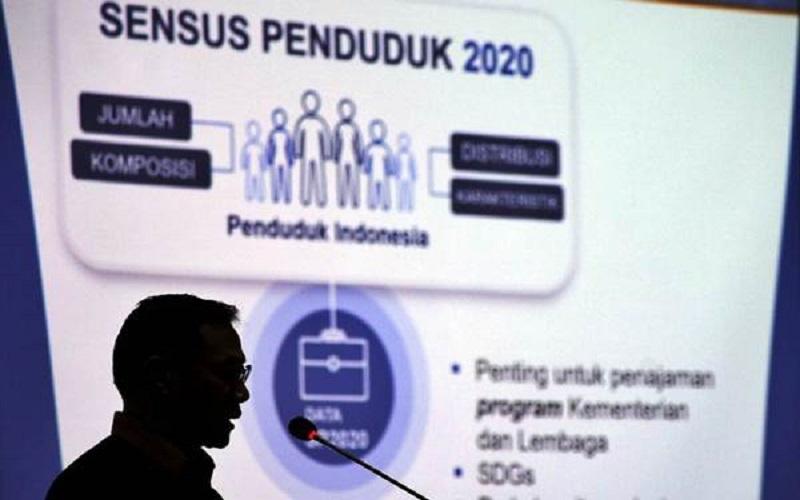 Kepala Badan Pusat Statistik Suhariyanto menyampaikan pidato pembuka dalam acara Kick-Off Meeting persiapan sensus penduduk 2020, di Jakarta, Rabu (14/2/2018). - JIBI - Felix Jody Kinarwan