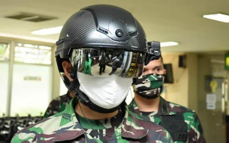 Helm canggih pendeteksi suhu tubuh mampu memindai suhu tubuh lebih dari satu orang dalam waktu bersamaan dan dapat dilakukan dari jarak cukup jauh - Dispenad