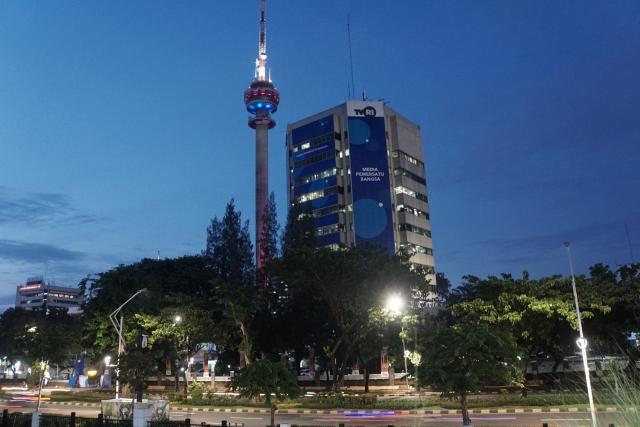 Gedung Televisi Republik Indonesia (TVRI). - Bisnis/Himawan L Nugraha