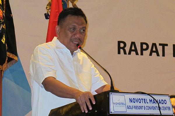 Gubernur Sulawesi Utara (Sulut) Olly Dondokambey saat membuka Rakorwil Timur Kadin Indonesia, Jumat (4/5).-JIBI - Kurniawan A. Wicaksono