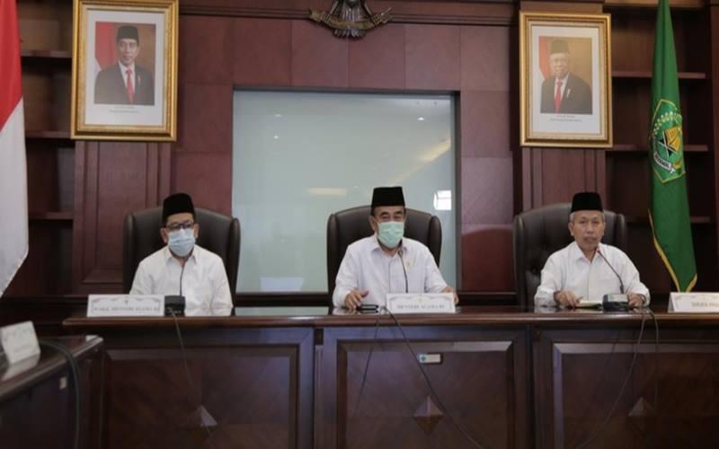 Menteri Agama (Menag) Fachrul Razi memastikan bahwa keberangkatan jemaah haji pada penyelenggaraan ibadah haji 1441H/2020M dibatalkan. - Kemenag