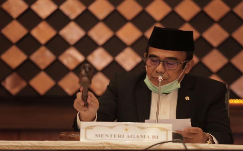 Menteri Agama Fachrul Razi memimpin sidang isbat penentuan Idulfitri, Jumat 922/5/2020) di Kementerian Agama. - Twitter