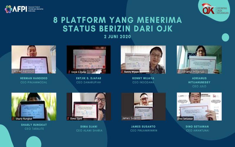 Delapan platform fintech berhasil mendapatkan izin dari OJK. - AFPI