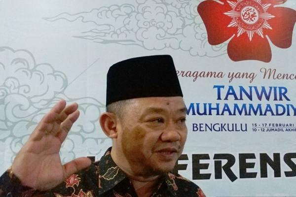 Sekretaris Umum Pimpinan Pusat Muhammadiyah Abdul Mu'ti di Gedung Dakwah Muhammadiyah, Jakarta, Senin (11/2/2019). - Antara