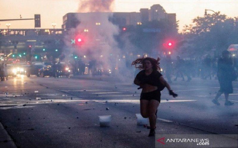Ilustrasi-Suasana kerusuhan di Amerika Serikat - Antara