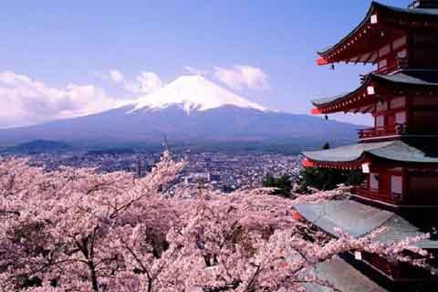 Gunung Fuji di Yamanashi Prefektur, Jepang - repro