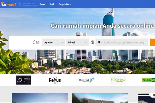 Ilustrasi portal jual beli properti online Lamudi.