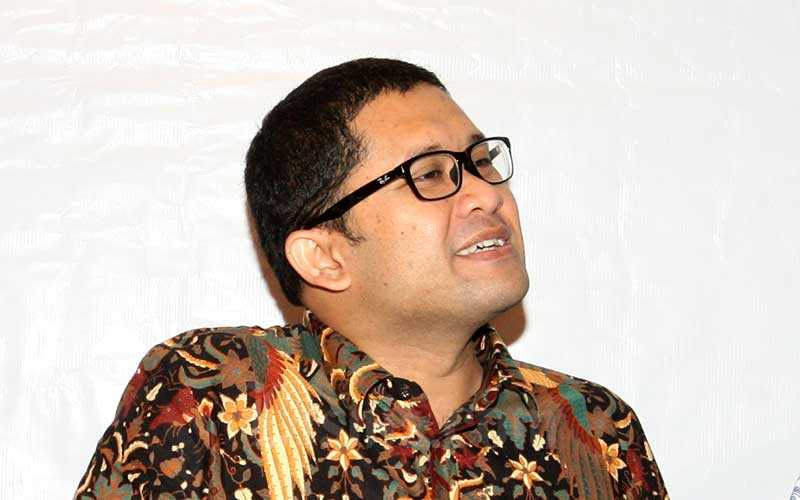 Kepala BKF Febrio Kacaribu disela-sela seminar di Jakarta, Selasa (28/2). Bisnis - Dedi Gunawan