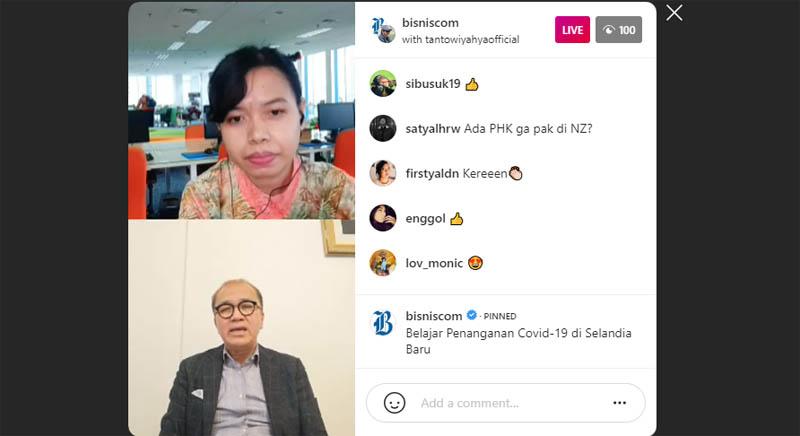 Diskusi dengan Dubes RI untuk Selandia Baru Tantowi Yahya