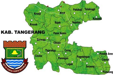 Wilayah Kabupaten Tangerang, Banten.  - bisnis.com