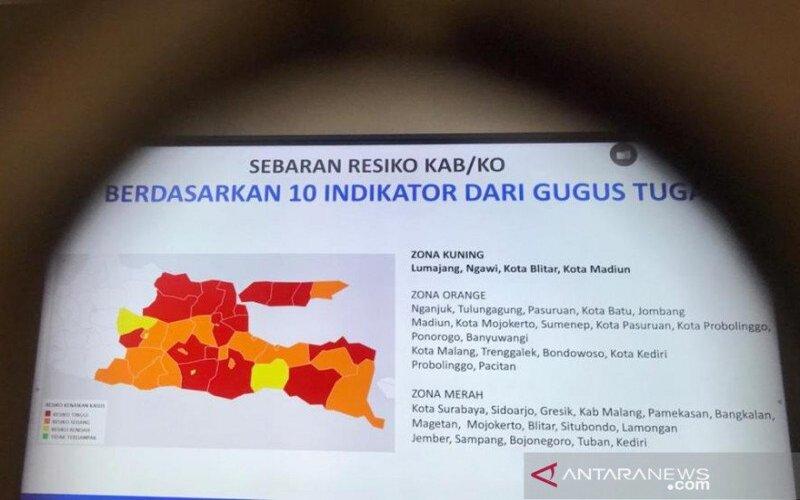 Empat Zona Kuning Covid 19 Jatim Diminta Tak Lengah