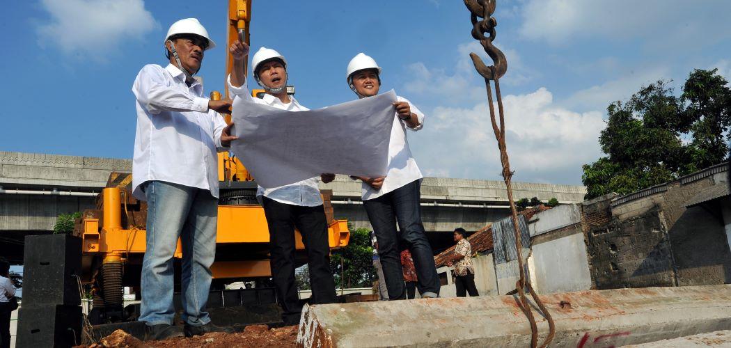 Ilustrasi pembangunan kawasan pemukiman - Antara / Audy Alwi.