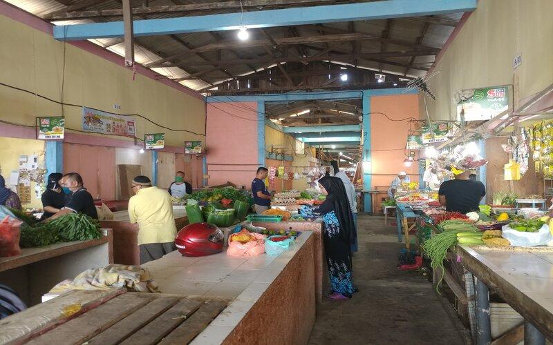 Salah satu pasar tradisional Batu Merah diKecamatan Batu Ampar, Batam. - Bisnis/Bobi Bani