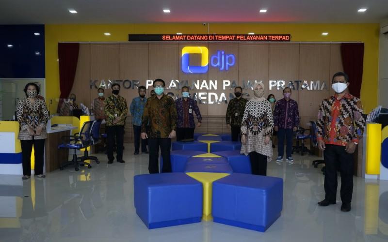 KPP Pratama Sumedang meresmikan kantor baru dengan menerapkan protokol kesehatan sesuai AKB - Istimewa