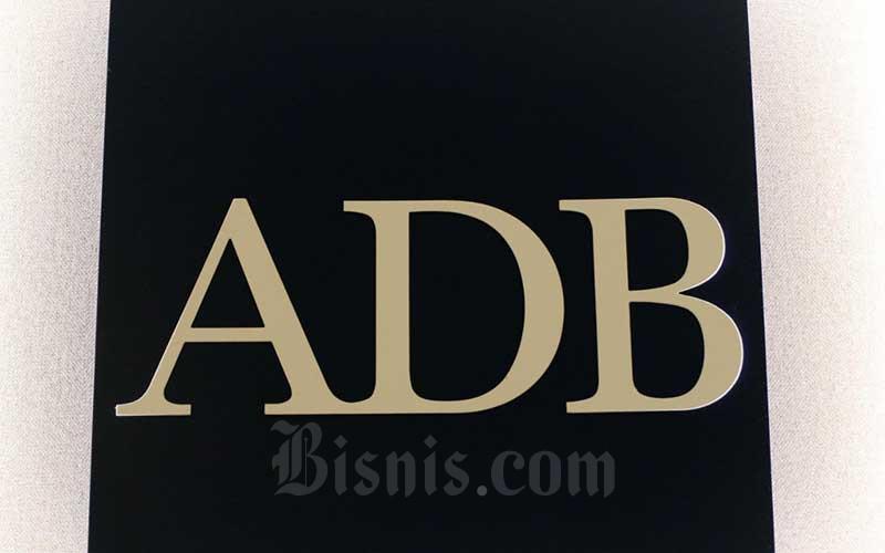 Logo Asian Development Bank Indonesia di Jakarta, Rabu (8/4/2020). Bisnis - Eusebio Chrysnamurti