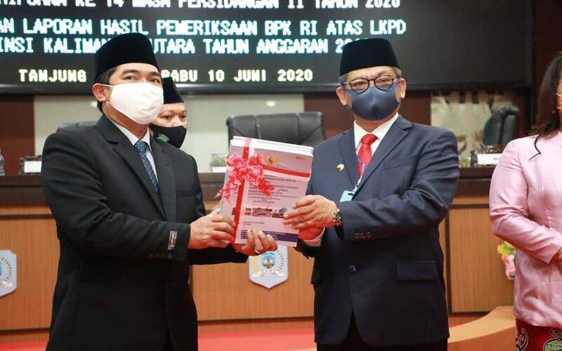 Laporan keuangan pemerintah daerah Provinsi Kalimantan Utara tahun anggaran 2019 memeroleh opini wajar tanpa pengecualian.