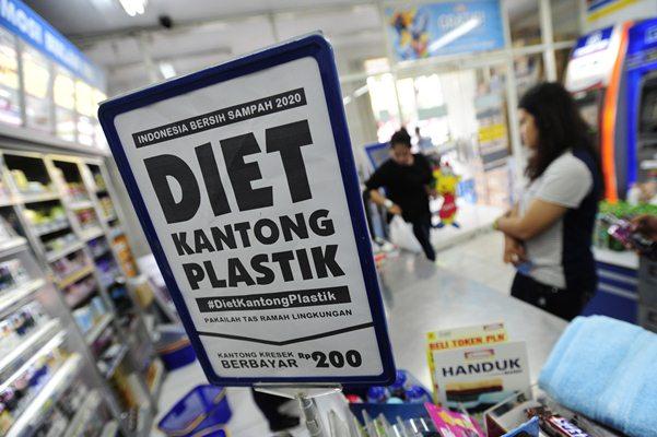 Ilustrasi Diet Kantong Plastik - Antara/Wahyu Putro A