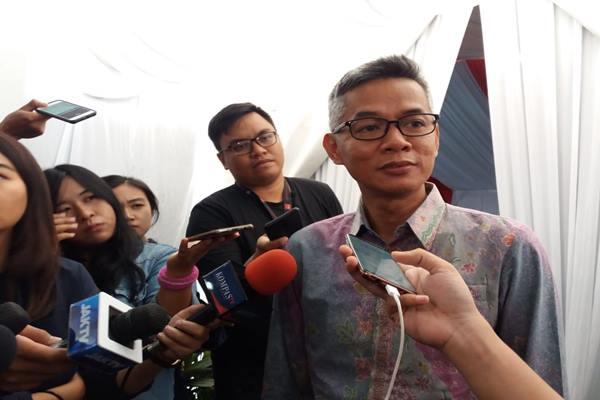 Wahyu Setiawan saat masih menjadi Komisioner KPU RI - Bisnis/Lalu Rahadian