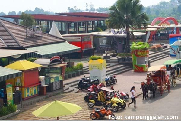 Salah satu wahana atraksi di Taman Rekreasi Kampung Gajah