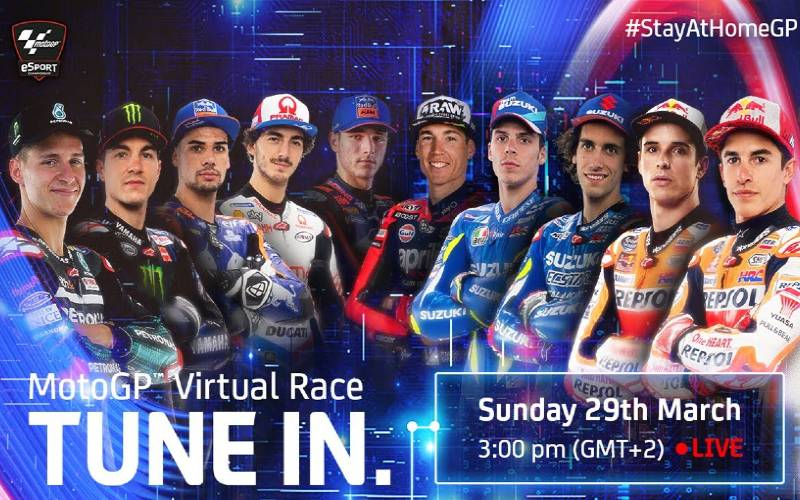 MotoGP(TM) Virtual Race 2  StayAtHomeGP / Honda
